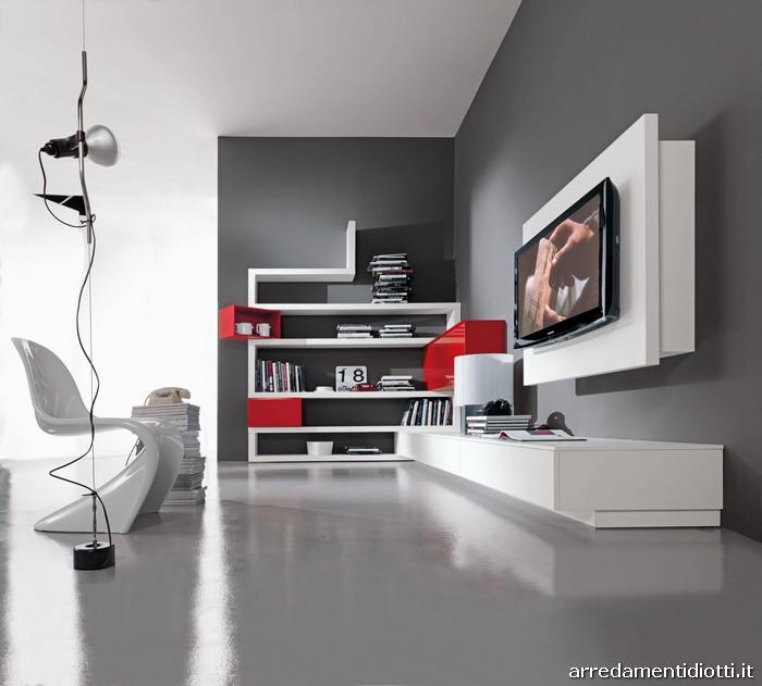 mensole moderne : Creative side bookcase - DIOTTI A&F Italian Furniture and Interior ...