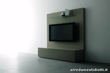 Airline tv sceen panel gloss juta laquered with a glass shelf