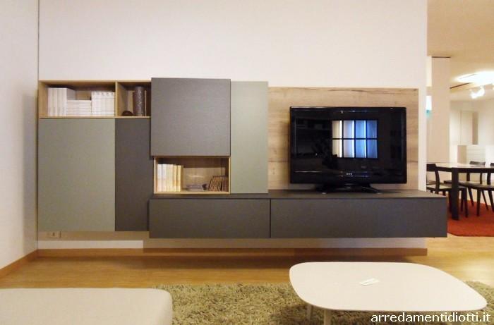 Soggiorno in legno massello flare arredo design online