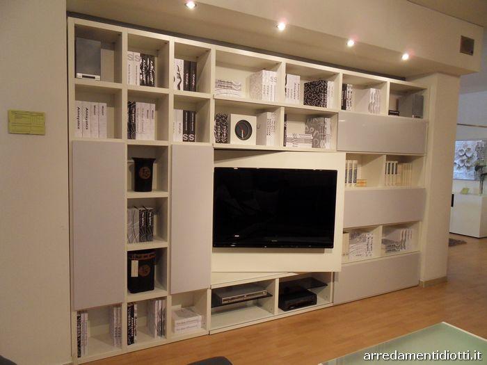Libreria my space laccata a poro aperto diotti a f arredamenti - Pannello porta tv ikea ...