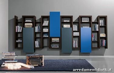 Libreria creative side contenitore mensole diotti a f arredamenti - Mobili laccati moderni ...