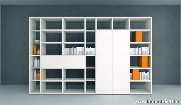 Libreria My Space bifacciale divisorio - DIOTTI A&F Arredamenti