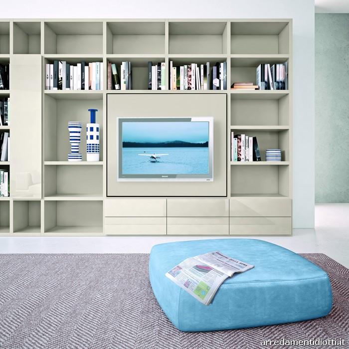 soggiorno my space porta tv orientabile - diotti a&f arredamenti - Soggiorno Tv Orientabile 2