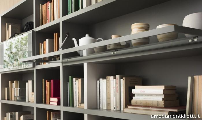 Librerie moderne in rovere for Vetrina soggiorno