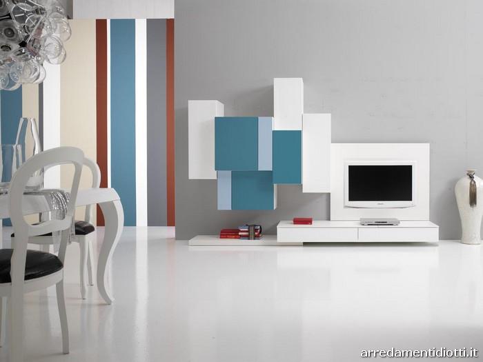 Soggiorno tetris 2 0 moderno componibile diotti a f for Soggiorni moderni colorati