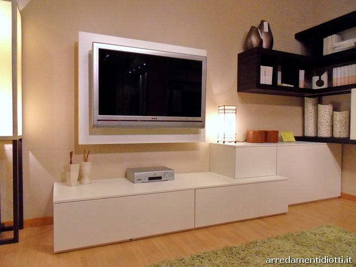 Soggiorno link free moderno componibile orientabile - Ikea porta tv angolare ...
