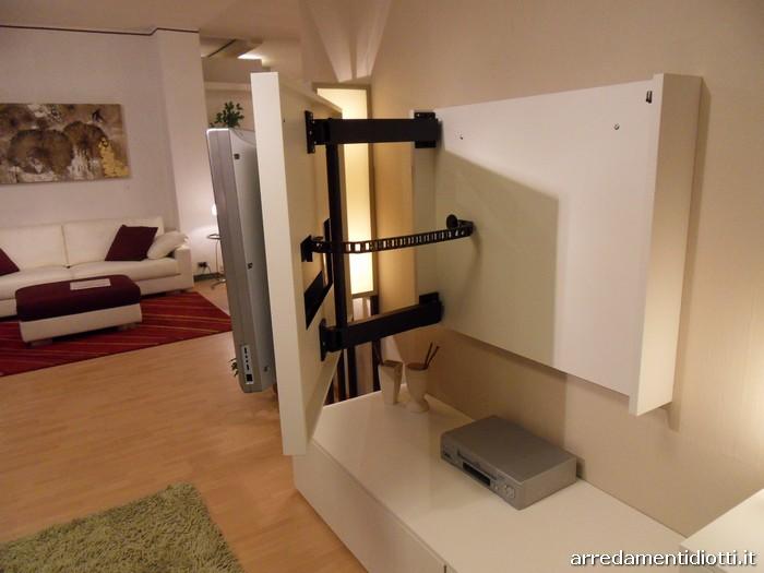 Soggiorno link free moderno componibile orientabile diotti a f arredamenti - Mobili soggiorno ad angolo ...