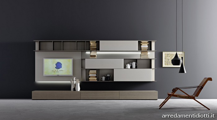 soggiorno lampo 2012 componibile modulare trasversale diotti a f arredamenti. Black Bedroom Furniture Sets. Home Design Ideas