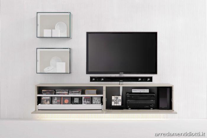 Porta Tv Sospeso Orientabile Modello Logic Arredaclick Pictures to pin ...