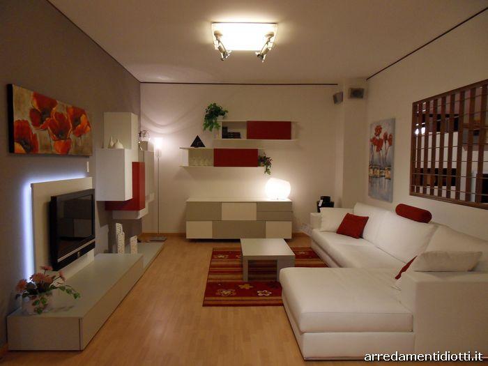 Arredo Soggiorno Rosso : Arredo soggiorno moderno bianco idee per il design della