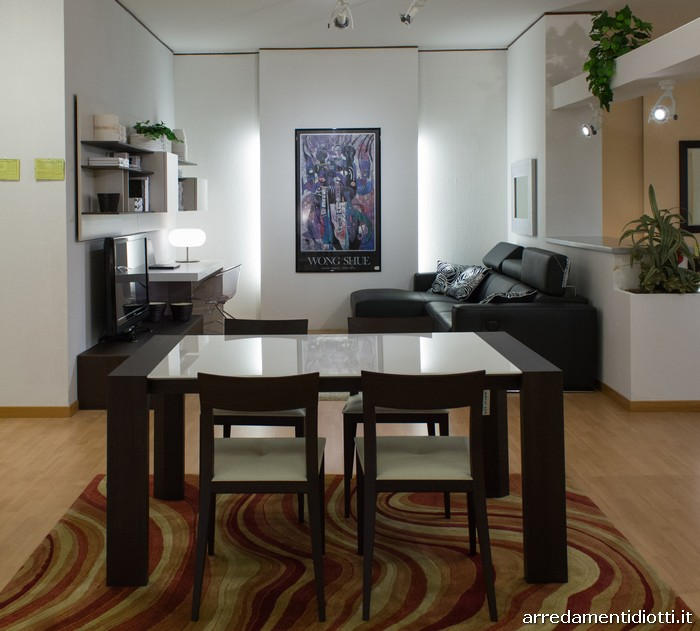 Parete attrezzata soggiorno scrittoio diotti a f arredamenti for Tavoli e sedie soggiorno moderno