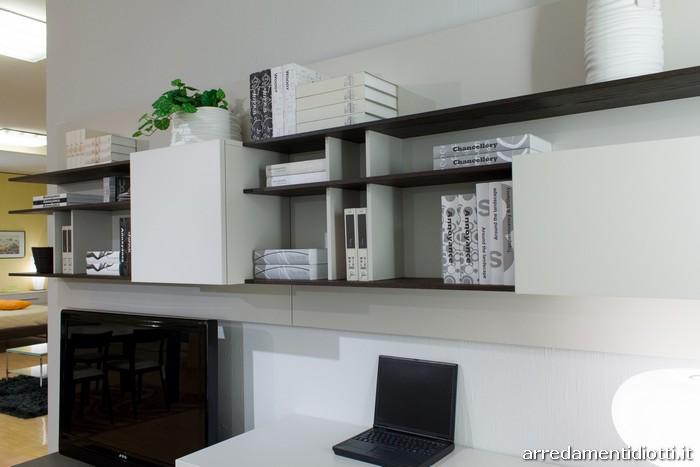 parete attrezzata soggiorno scrittoio - diotti a&f arredamenti - Creare Angolo Studio In Soggiorno 2