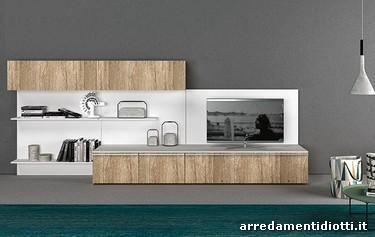 Composizioni soggiorno con moduli disposti a piacere in modo ...
