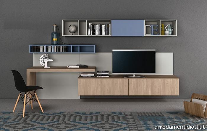 Composizioni soggiorno con moduli disposti a piacere in for Rb arredamenti