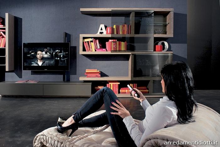 soggiorno con porta tv girevole creative side - diotti a&f arredamenti - Soggiorno Tv Orientabile 2