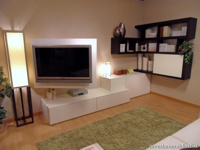 Soggiorno side system con mensole e porta tv diotti a f for Diotti a f arredamenti lentate sul seveso monza e brianza