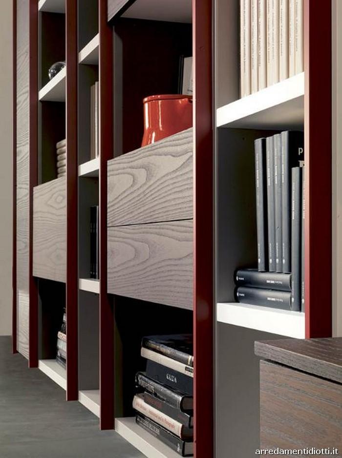 Libreria edis con profili indipendenti diotti a f for Profili arredamenti