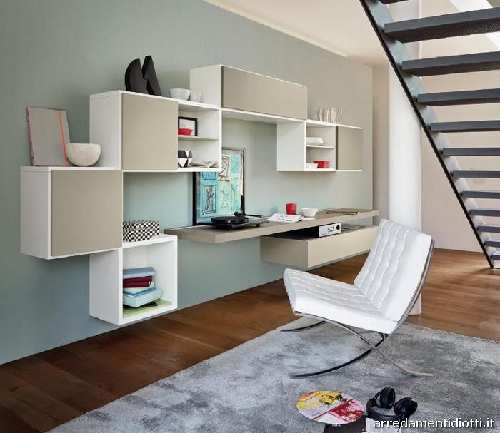 Libreria modo funzionale e di design diotti a f arredamenti for Modo 10 parete attrezzata