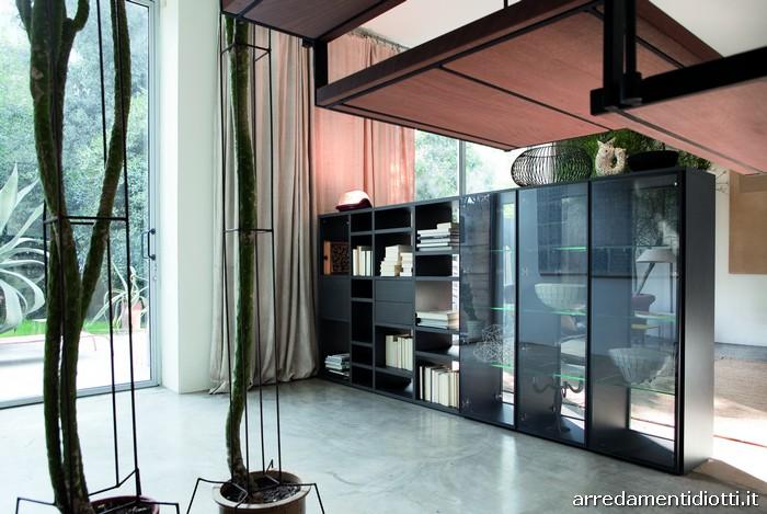 Libreria bifacciale Modo - DIOTTI A&F Italian Furniture and Interior ...