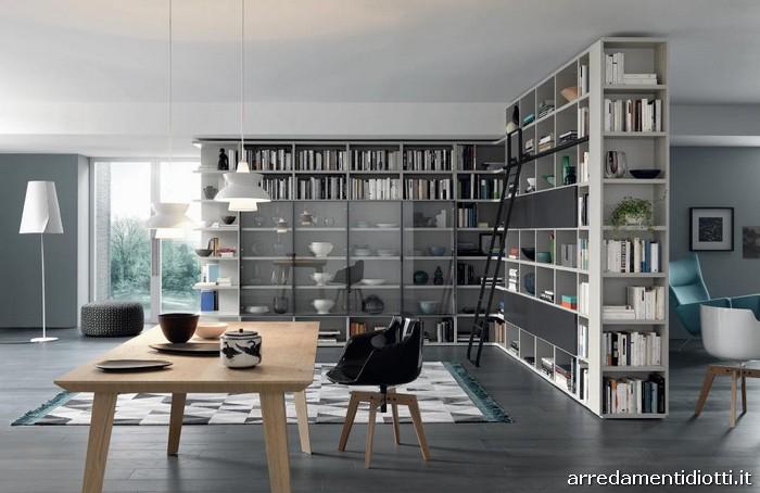 Libreria bifacciale porta tv u idea immagine home