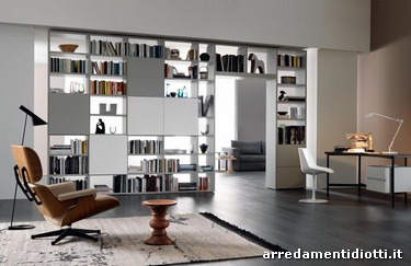 Librerie Componibili Bifacciali.Libreria Modo Bifacciale Componibile Diotti A F Arredamenti