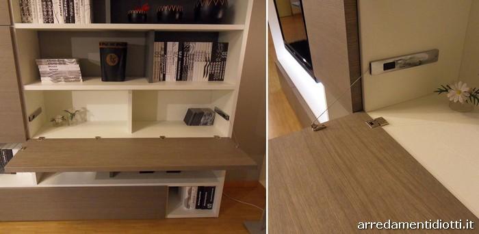 Soggiorno modo con scrivania a scomparsa diotti a f for Libreria con scrivania a scomparsa
