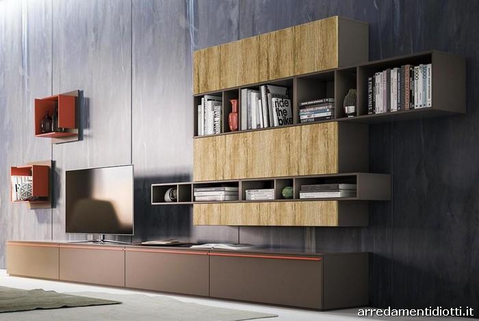 Composizioni soggiorno con moduli posizionabili a piacere for Arredamenti monterotondo