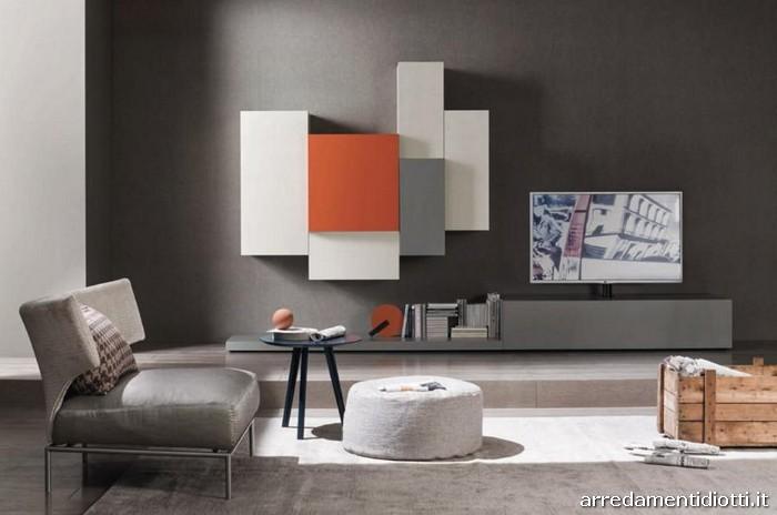 Composizioni soggiorno Lampo New - DIOTTI A&F Arredamenti