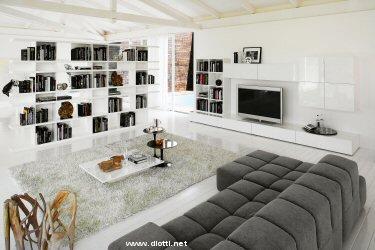 Soggiorno essential landscape diotti a f arredamenti - Mobili particolari per soggiorno ...