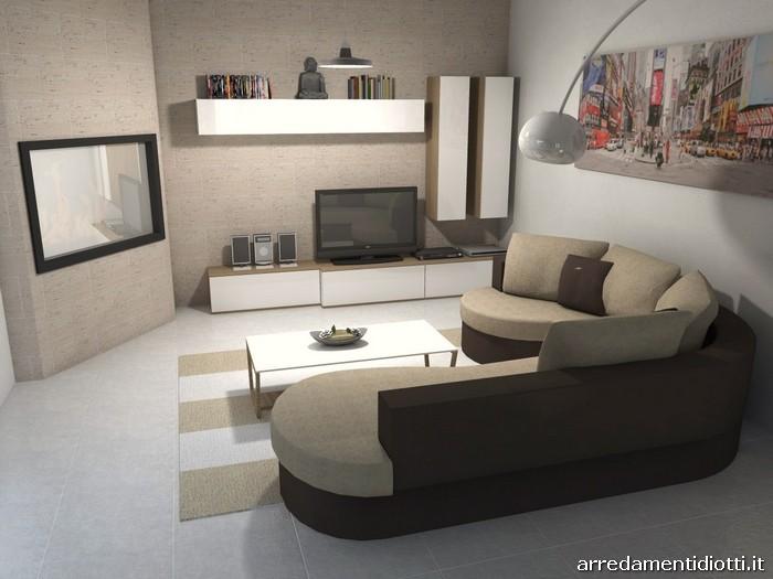 Soggiorno Day lineare divano Rondò - DIOTTI A&F Arredamenti