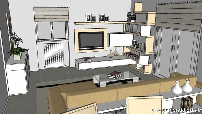 Soggiorno Creative side divano Zen libreria - DIOTTI A&F ...