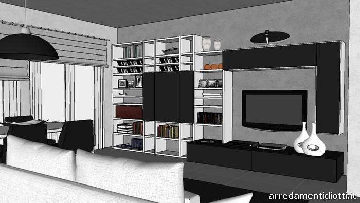 soggiorno logo bianco e nero - diotti a&f arredamenti - Mobili Soggiorno Bianco E Nero 2