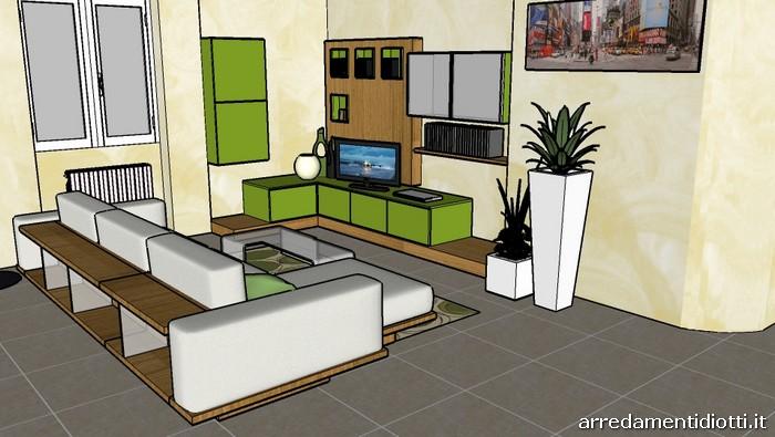 Soggiorno moderno verde pareti verde petrolio su pineglen for Verde soggiorno