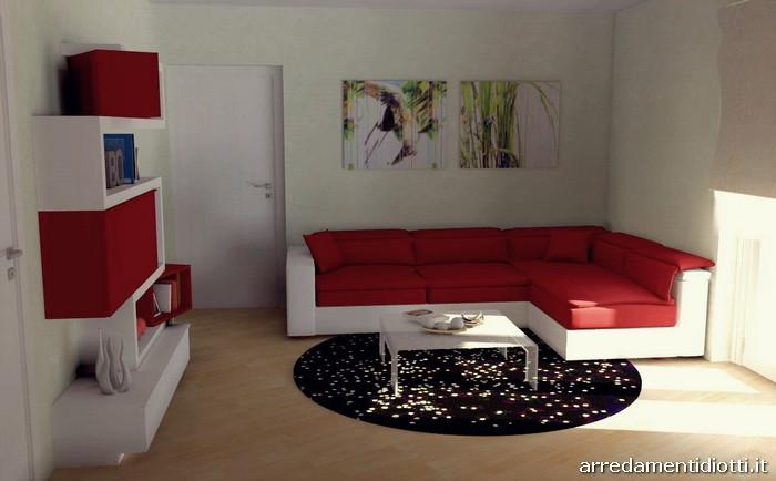 Arredo Soggiorno Rosso : Soggiorno creative side componibile bianco e rosso