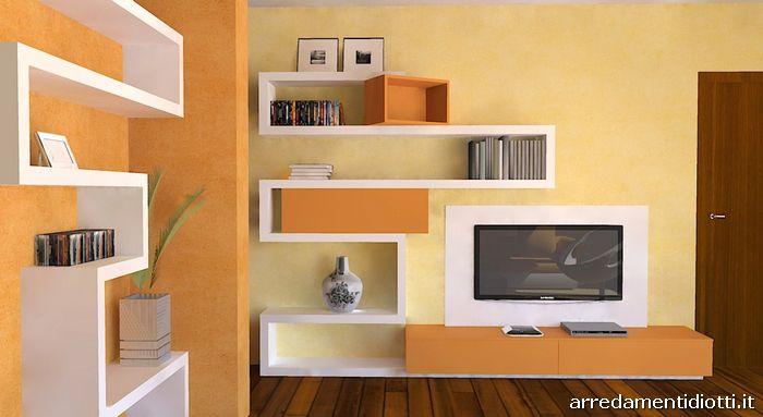 Pareti Gialle E Arancio : Colori pareti soggiorno giallo idee per il design della casa