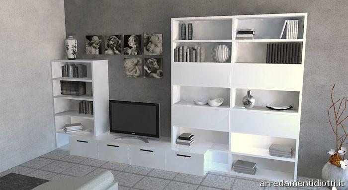 Colore Parete Soggiorno Bianco ~ Idee per il design della casa