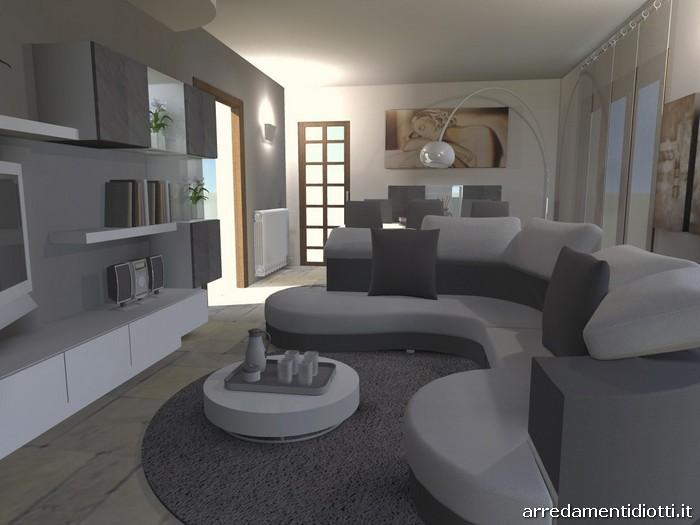 Divano componibile curvo idee per il design della casa - Divano di fronte alla porta d ingresso ...