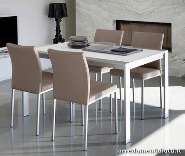 Sedia con seduta imbottita a schienale basso - Sedie e tavoli da cucina ...