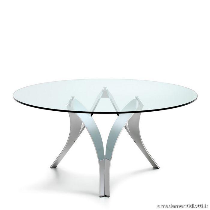 Tavolo rotondo basamento di design - DIOTTI A&F Arredamenti