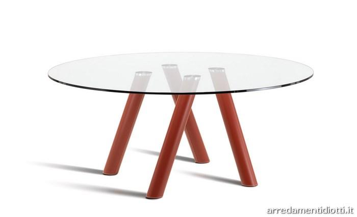 Tavolo Rotondo In Cristallo Trasparente Ray Diotti A F