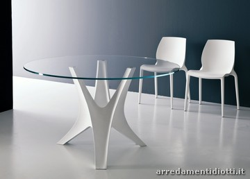 Forum alla ricerca di un tavolo rotondo in for Tavolo cristallo rotondo design