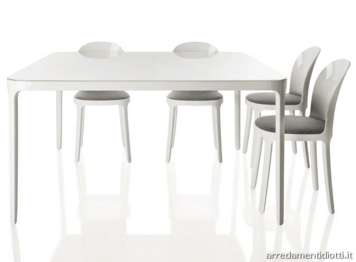 Tavolo cromo sedia plexiglas vanity diotti a f arredamenti - Tavolo con sedie diverse ...