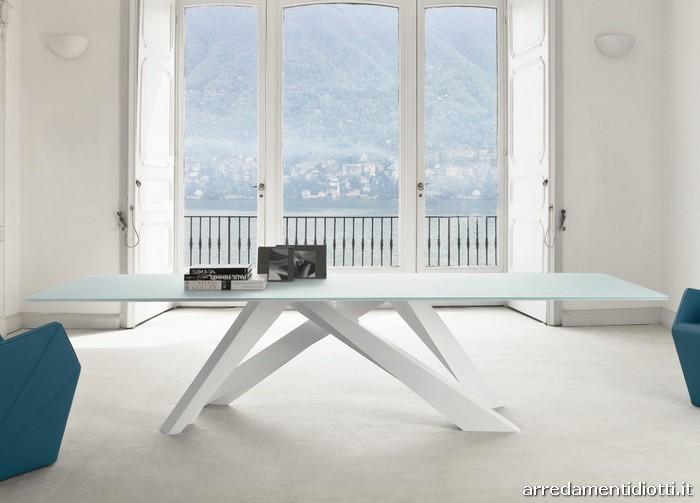 Tavolo fisso Big Table gambe colorate - DIOTTI A&F Arredamenti