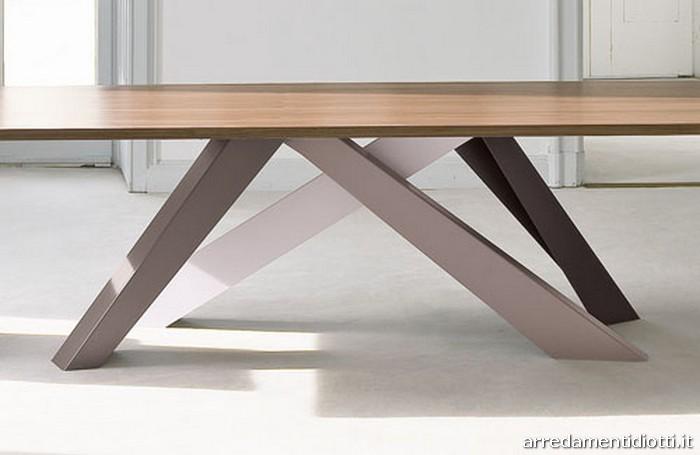 tavolo fisso big table gambe colorate diotti a f arredamenti