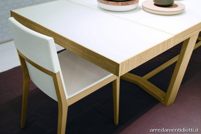 Tavolo cartesio sedia elekta in rovere diotti a f for Tavolo rovere sbiancato