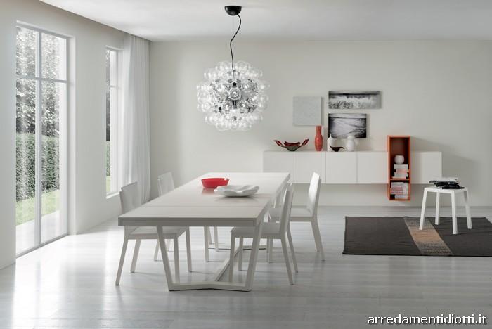 Tavolo cartesio sedia elekta in rovere diotti a f for Tavolo allungabile vetro bianco
