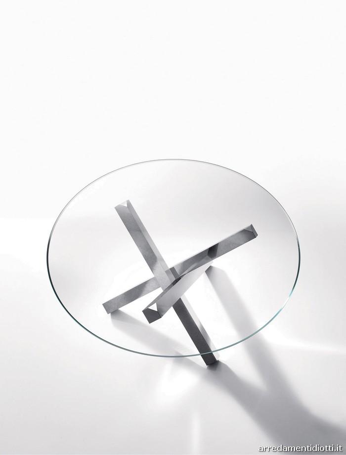 Tavoli svt52 e svt54 con piano in vetro diotti a f arredamenti - Tavolo quadrato gamba centrale ...