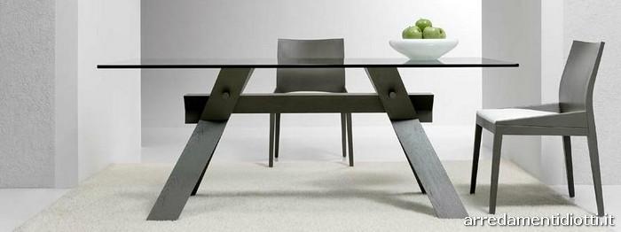Tavolo cavalletto rettangolare con struttura a incastri - Base per tavolo cristallo ...