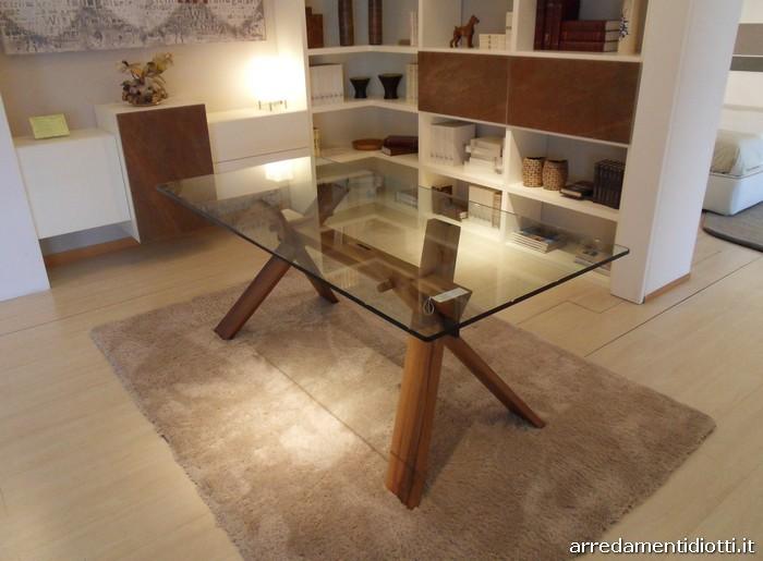 Tavolo cavalletto rettangolare con struttura a incastri - Sedie per tavolo in vetro ...