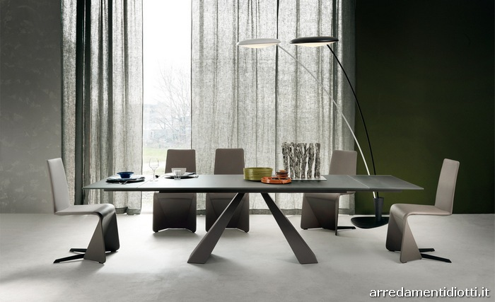 Tavolo per soggiorno eliot sia fisso che allungabile for Tavoli da salone